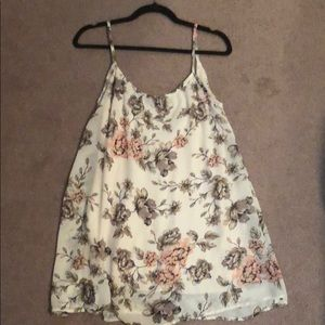 Cream floral printed sundress